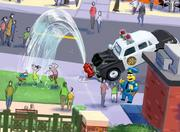 Kids will have a fun spot to cool down in the hot summer days in Springfield. And, look, it's Chief Wiggum meeting guests!