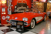 George Passadore's collection includes this cherry 1958 Chevrolet Corvette Roadster.