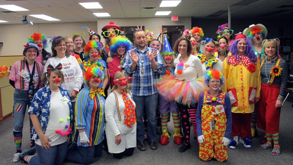 Clowns Morton Salt Girl among your favorite workplace Halloween costumes - Wichita Business Journal  sc 1 st  The Business Journals & Clowns Morton Salt Girl among your favorite workplace Halloween ...