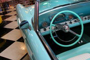 George Passadore's Ford Thunderbird is so pristine it looks like it could be on a 1955 showroom floor.