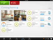 A screen shot showing what a homeowner can see from their tablet, smart phone or computer.