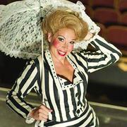 "Actress Katy Moore as Dolly Levi in ""Hello Dolly."""