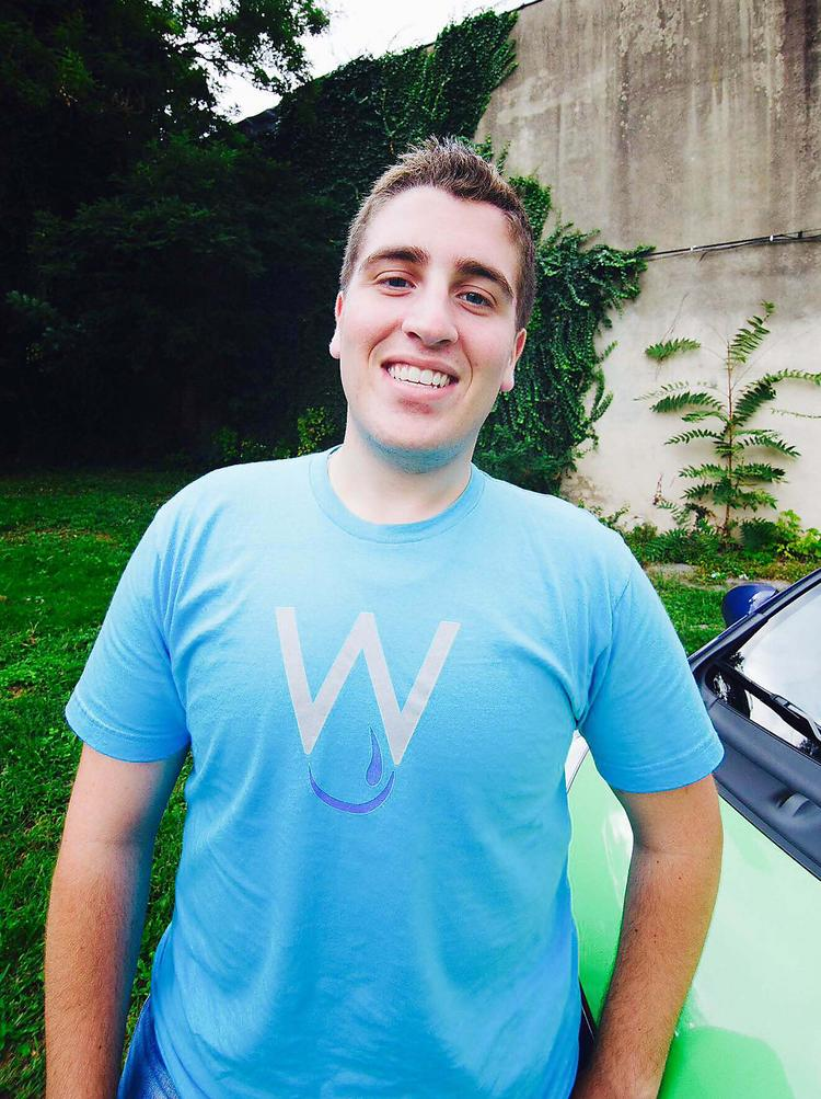 Christopher Caporale started Waterless Works car-cleaning service.