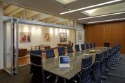 Law firm Ater Wynne has six conference rooms at its offices in The Lovejoy. A portion of the firm's art collection is on exhibit on the far wall.
