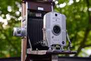 """This 1948 Polaroid 95 is one Drew Klonsky's favorites. It was the first commercial Polaroid camera and the first model of camera to self develop film. """"The Polaroid offered a shift that completely shook the market: Instant pictures. People went crazy for the instant gratification and simplicity of creating a likeness of anything they cared to duplicate through instant film. Think of this as the YouTube of the 1950's, instant broadcast."""""""