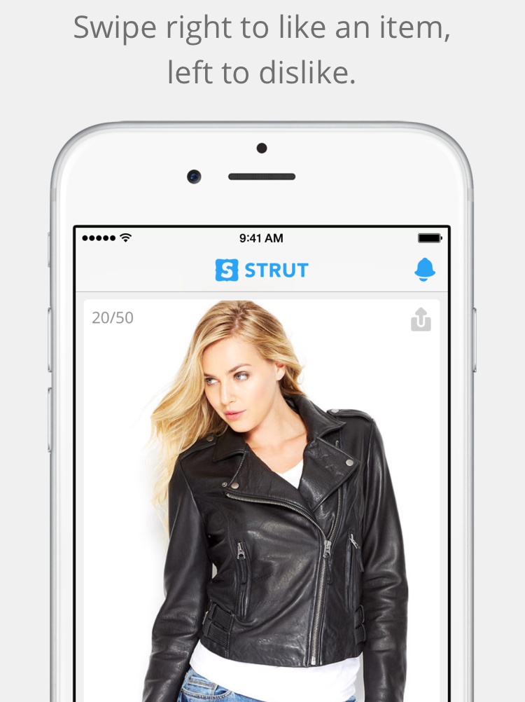 E-commerce app Strut is like Tinder for clothes shopping