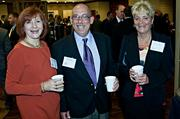 Catherine Barsamian of the Belgrade Group met up with KBS Building Systems husband and wife team of Ray and Debra Atkisson at the Boston Business Journal's Best in Boston Real Estate Awards luncheon.