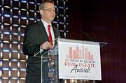 Boston Business Journal editor George Donnelly was a co-presenter at the Boston Business Journal's Best in Boston Real Estate Awards luncheon.