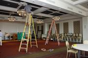 Work being done in the ballroom.