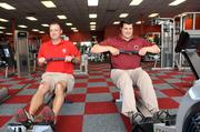 Spencer and Tyler McDaniel at ATC Fitness, which won Small business of the Year, 61- plus employees
