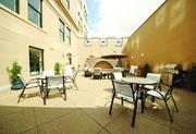 The courtyard at The Brix@26 .