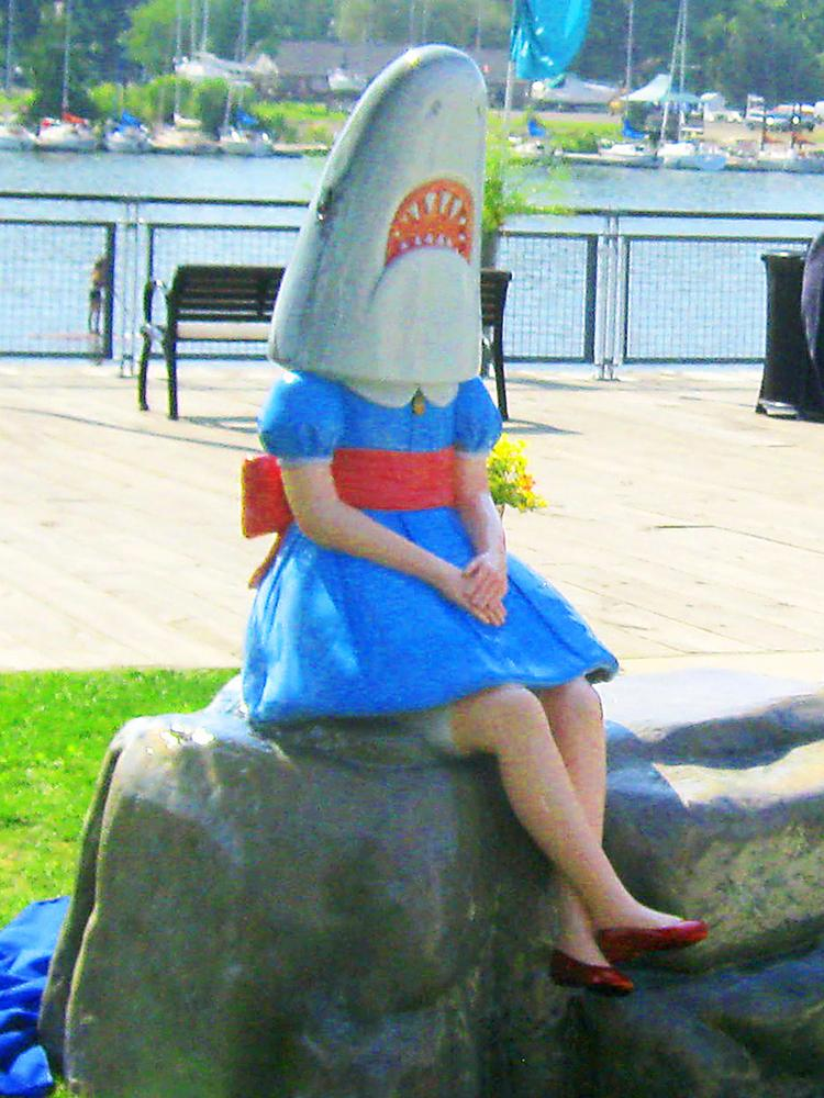 'Shark Girl' leaves Canalside for cosmetic repairs - Buffalo - Buffalo Business First