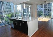 Some of apartment features include granite countertops, stainless steel appliances, floor-to-ceiling windows and balconies that overlook the downtown and Midtown skyline.