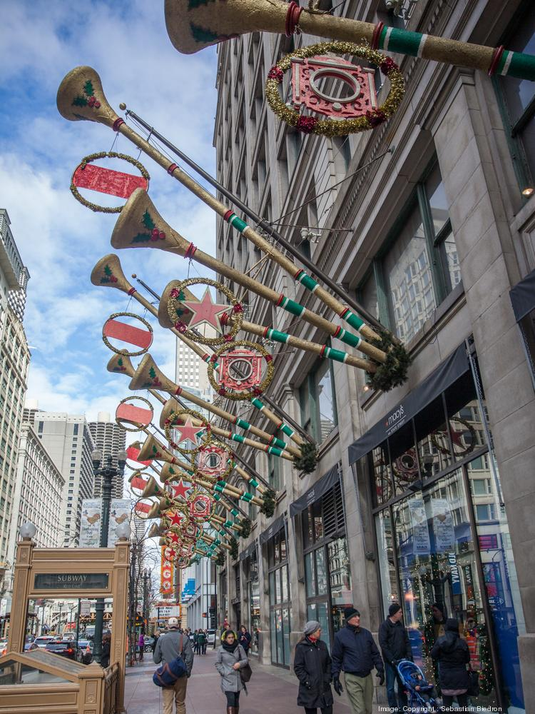 Holiday shoppers can head to Macy's iconic State Street store (pictured here) or shop the store online and get same day delivery.