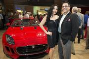 Enid Sanchez and Dr. Roland Maldonado at Momentum Jaguar F-Type launch