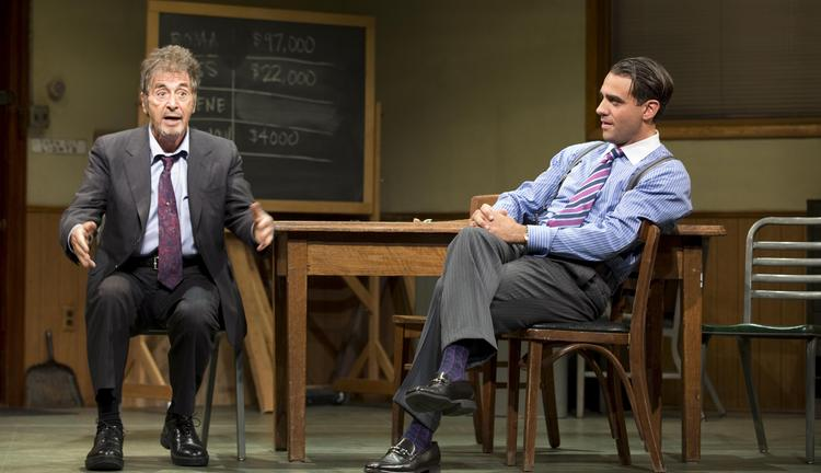 "Coffee is for closers -- and so are jobs. You need to be a closer if you want to advance your career. Pictured: Al Pacino and Bobby Cannavale star in a Broadway revival of the famed sales drama ""Glengarry Glen Ross"" in New York, U.S., in this handout photo taken on Oct. 18, 2012."