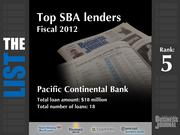 5: Pacific Continental Bank