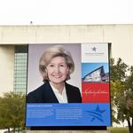 Kay Bailey Hutchison looms large at convention center