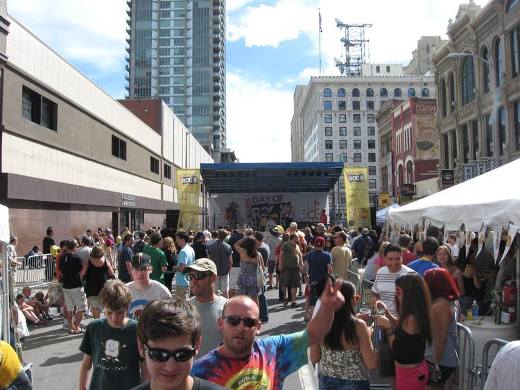 Crowds enjoy the 2013 Downtown Day of Rock in May.