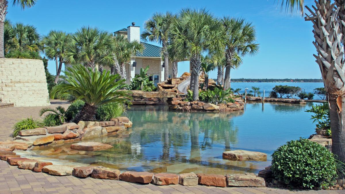 A Lake Livingston Property With The Largest Private Residential Pool In  Texas Hits The Houston Market   Houston Business Journal