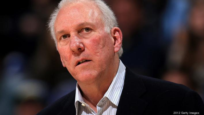 File photo of San Antonio Spurs head coach Gregg Popovich. The Spurs will have a tough road ahead as they look to make another title run.   (Photo by Doug Pensinger/Getty Images)