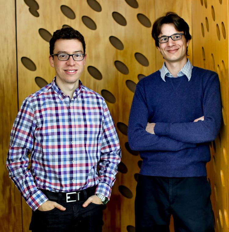 Duolingo co-founders Luis von Ahn, left, and Severin Hacker, right.