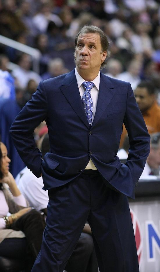 Flip Saunders in a November 2009 photo as coach of the Washington Wizards.