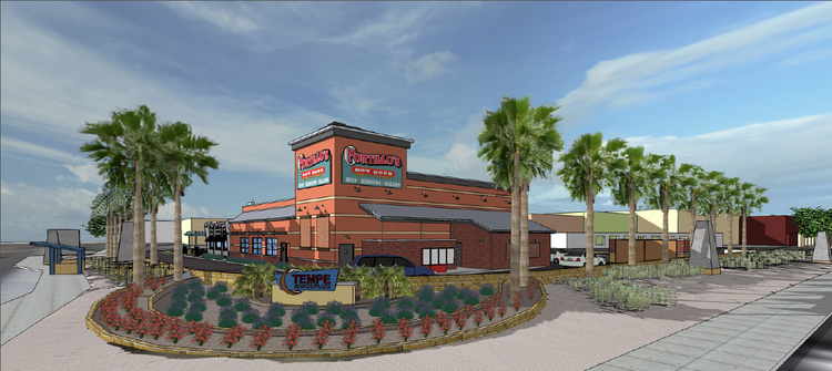 A rendering of the new Portillo's restaurant in Tempe.