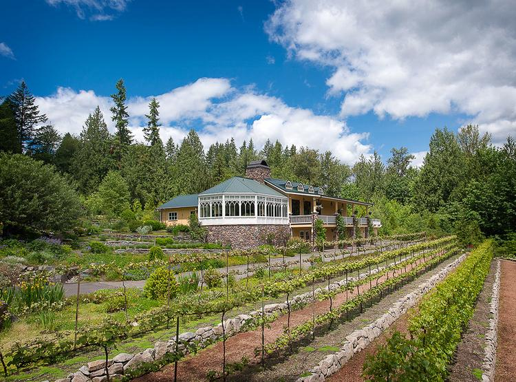 Storybook Farm as seen from the vineyard. Phil Condit, former Boeing CEO, and his wife, Geda, developed the property over 15 years and are now renting it out.