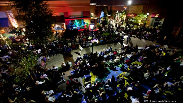 The Fountains at Roseville resumes its First Friday event series this week with a car show, artisans and crafters. The outdoor concert series begins in June.