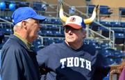 These two gentlemen must be fans of the Durham Bulls.