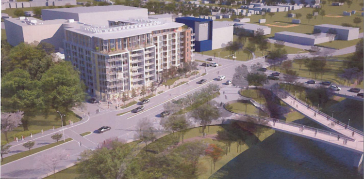 Austin City Council has approved a zoning change at 211 South Lamar that will clear the way for a 96-foot-tall residential building near Lady Bird Lake and across from the Zach Theatre.