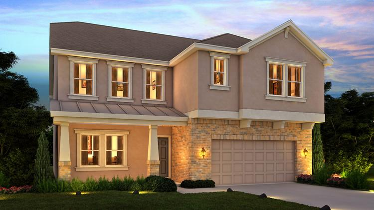 Meritage Homes is teaming with Cary-based Preston Development to begin construction this fall at Cotten Place in Morrisville with homes much like this unit in Orlando.