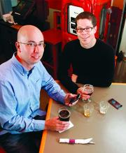 Levlr co-founders Phil Anderson, left, and Shawn Wall launched their first mobile app while at AlphaLab.