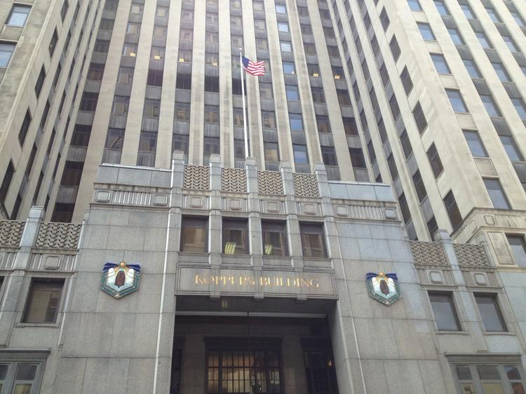 The Koppers Building, located on Grant Street in downtown Pittsburgh.