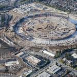 Drone videos, pics give progress report on Apple Campus 2