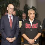NBA commissioner <strong>Adam</strong> <strong>Silver</strong> in town for Bucks game, GE Healthcare meeting