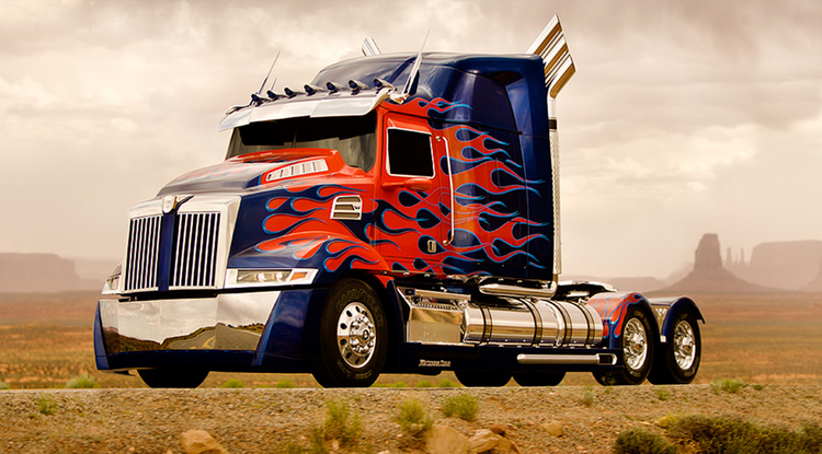 "The newly designed Optimus Prime that will feature in next summer's ""Transformers 4"" film is a based on a soon-to-debut truck model from Portland-based Daimler Trucks North America's Western Star brand."