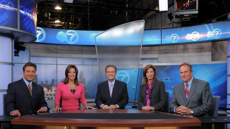 WLS Channel 7 And Its 10 Pm News Anchor Team Shown Here Are