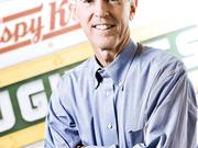 Jim Morgan, 66, will step down as president and CEO of Krispy Kreme Doughnuts Inc. on June 1. Morgan will stay on full-time as executive chairman.