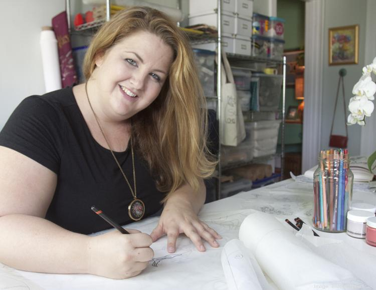 Susan Beresford is the creator and owner of textile studio SuZu Designs, which specializes in luxury bedding with hand-drawn designs. The studio will launch its first bedding line in June.