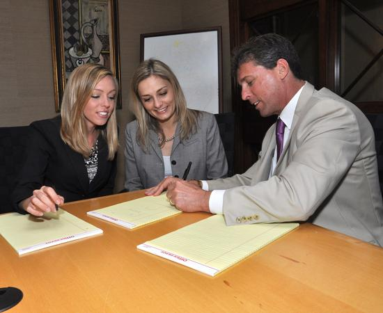 Greenberg Traurig shareholder and Brad Kaufman, who oversees the firm's associate development program, works with associates Laura Maher and Elizabeth Moum in Boca Raton.