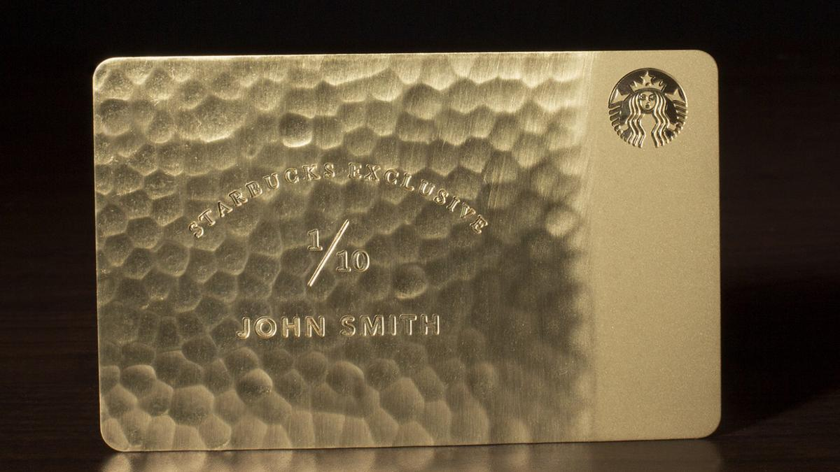 Starbucks snob how about a 5000 10k gold starbucks card for Starbucks business cards