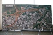 This display showed changes planned for Spaghetti Junction.