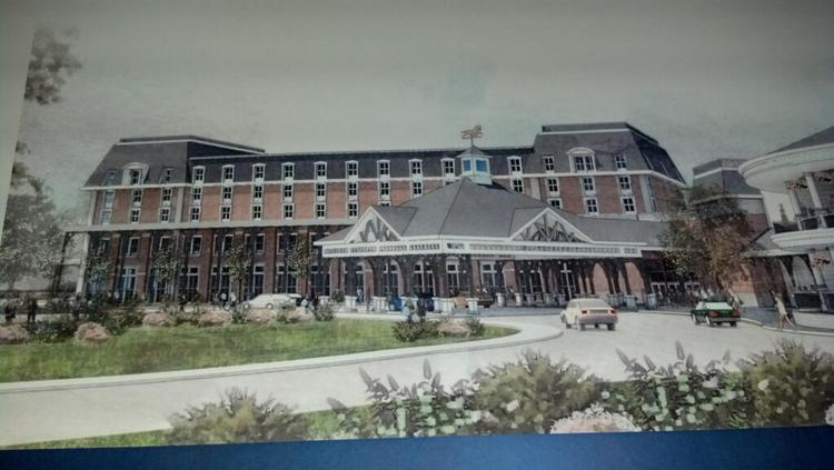 A rendering of the new 120-room hotel. The project architect is JCJ Architecture, headquartered in Hartford, Connecticut.