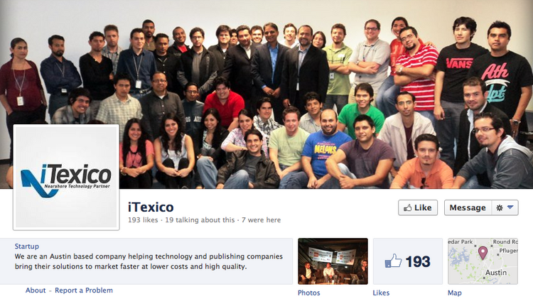 Members of the iTexico team are seen in a photograph on the company's Facebook page. The company was honored by the Mexican government's National Entrepreneurship Award for small businesses.