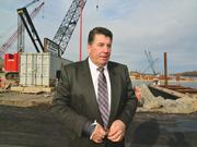 Carver Laraway, president of the Carver Cos., is building a $3 million warehouse near the Port of Coeymans for Dockside Logistics Co., a shipper whose clients include General Electric Co.