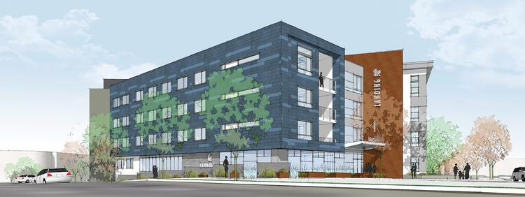 The Landing will have a mixture of studios, one-bedroom and two-bedroom units. Amenities will include a fitness center, yoga studio, business center, outdoor BBQs, and a roof deck and lounge.