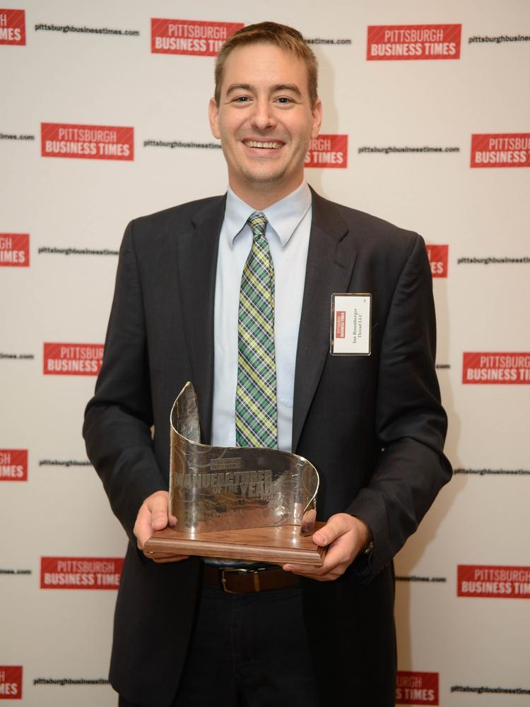 Ian Rosenberger's company Thread is dressed for success with capital infusion. He's pictured at the Business Times' 2014 Manufacturer of the Year awards.