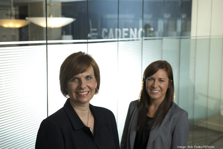 Cadence Bank's Tiffaney Sides, left, recruited Mississippi State University's Lenora Christopher to the bank for an internship.